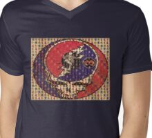 Greatfull Dead Teddy Bears Mens V-Neck T-Shirt