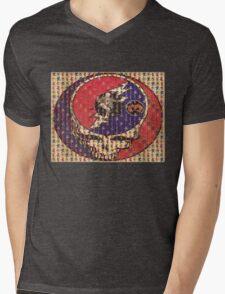 Greatfull Dead Teddy Bears Mens V-Neck T-Shirt