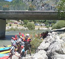 Water Sports in the Alps, France. by liza21uk