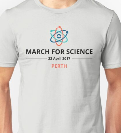 March for Science Perth logo – dark Unisex T-Shirt