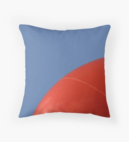 Abstract - Red on Blue Throw Pillow