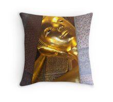 Reclining Buddha Throw Pillow