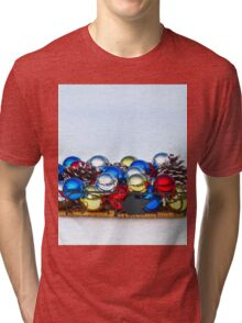 Ornaments in the Snow Tri-blend T-Shirt