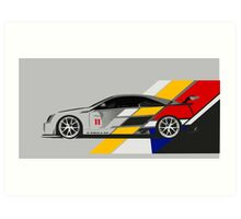 Cadillac CTS V Coupe Race Car Art Print