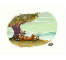 Calvin and Hobbes Art Print