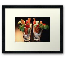 Healthy and Delicious Framed Print