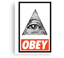 Obey the Illuminati Canvas Print