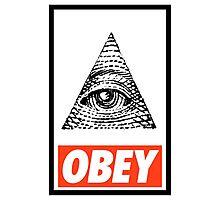 Obey the Illuminati Photographic Print