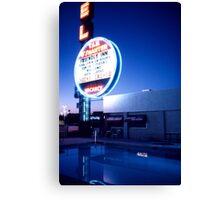 Vegas motel pool evening Canvas Print