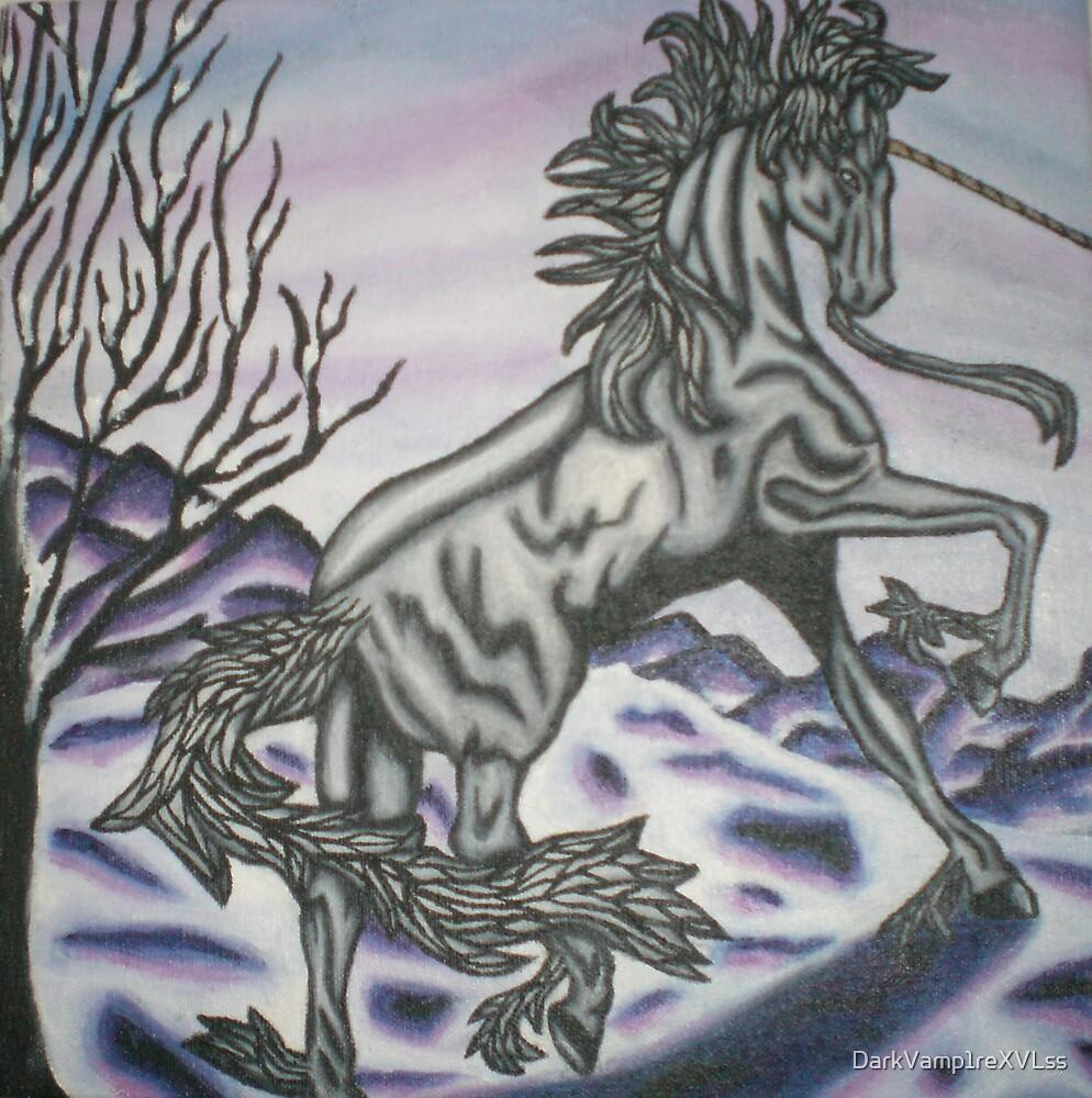 original acrylic unicorn painting by DarkVamp1reXVLss