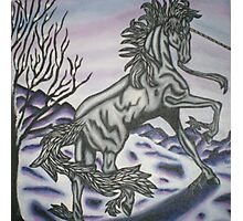 original acrylic unicorn painting Photographic Print