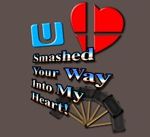 Super Smashed Heart Womens Fitted T-Shirt