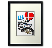 Super Smashed Heart Framed Print