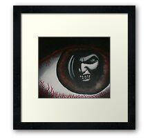original acrylic vampire painting Framed Print
