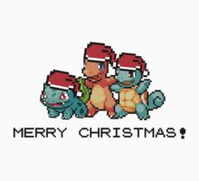 Merry Christmas! - Gen 1 starter Pokemon by LackingRuth
