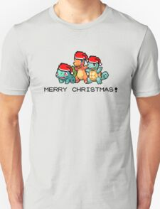 Merry Christmas! - Gen 1 starter Pokemon T-Shirt