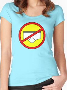 No Knickers T! Women's Fitted Scoop T-Shirt