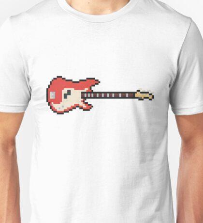 Pixel Vintage Red Bass Guitar Unisex T-Shirt