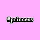 Princess - Hashtag - Black & White by graphix