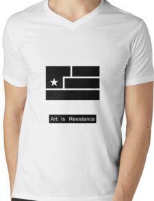 Art Is Resistance Mens V-Neck T-Shirt