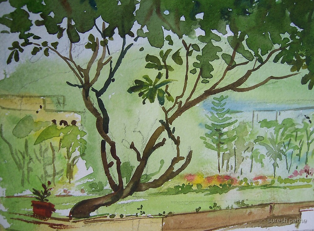 Tree on green by suresh pethe