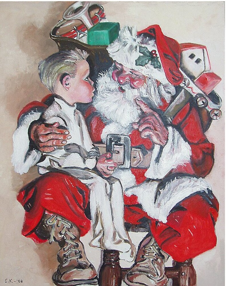 Santa and the Boy by Eileen Kasprick