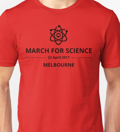March for Science Melbourne logo – black  Unisex T-Shirt