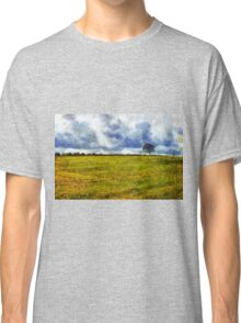 Country landscape with dramatic cloudscape Classic T-Shirt