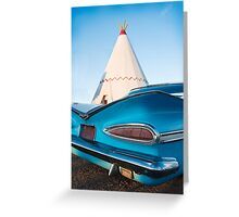 Fin's at the Teepee  Greeting Card