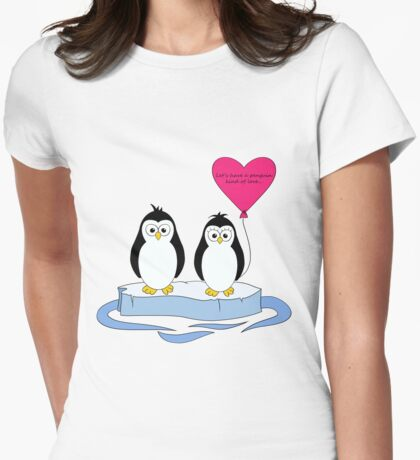 Penguin Kind of Love Womens Fitted T-Shirt