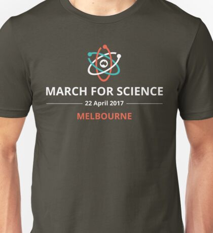 March for Science Melbourne logo – light  Unisex T-Shirt