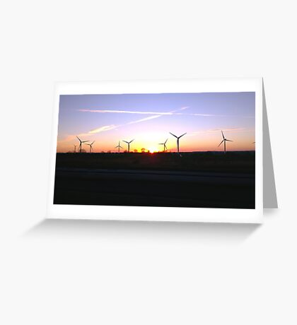 Windfarm Sunset Greeting Card