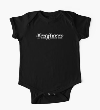 Engineer - Hashtag - Black & White One Piece - Short Sleeve