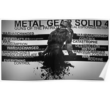 Metal Gear Solid 4 - War Has Changed Poster