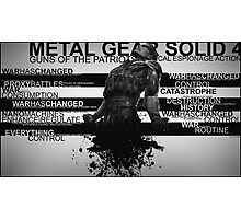 Metal Gear Solid 4 - War Has Changed Photographic Print