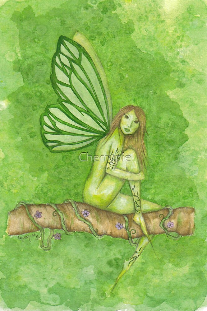 Green Tree Fairy by Cherrypie