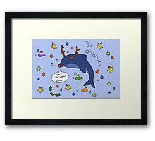 Ru-dolphin Framed Print
