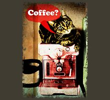 Coffee Cat Ragged Edges T-Shirt