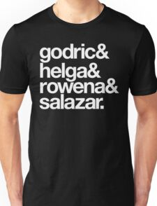 Teachers and Wizards-White Text Unisex T-Shirt