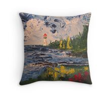 Lighthouse Sea Throw Pillow