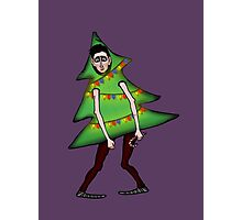 Man in Christmas costume Photographic Print
