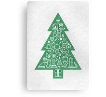 Christmas Tree Icons Canvas Print