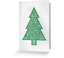 Christmas Tree Icons Greeting Card