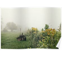 Foggy Countryside Poster