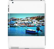 Feeling Nostalgic On The Water In Mykonos, Greece iPad Case/Skin