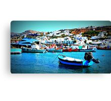 Feeling Nostalgic On The Water In Mykonos, Greece Canvas Print