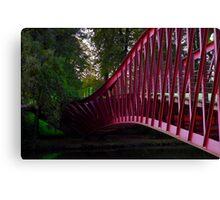Barge Bridge Canvas Print