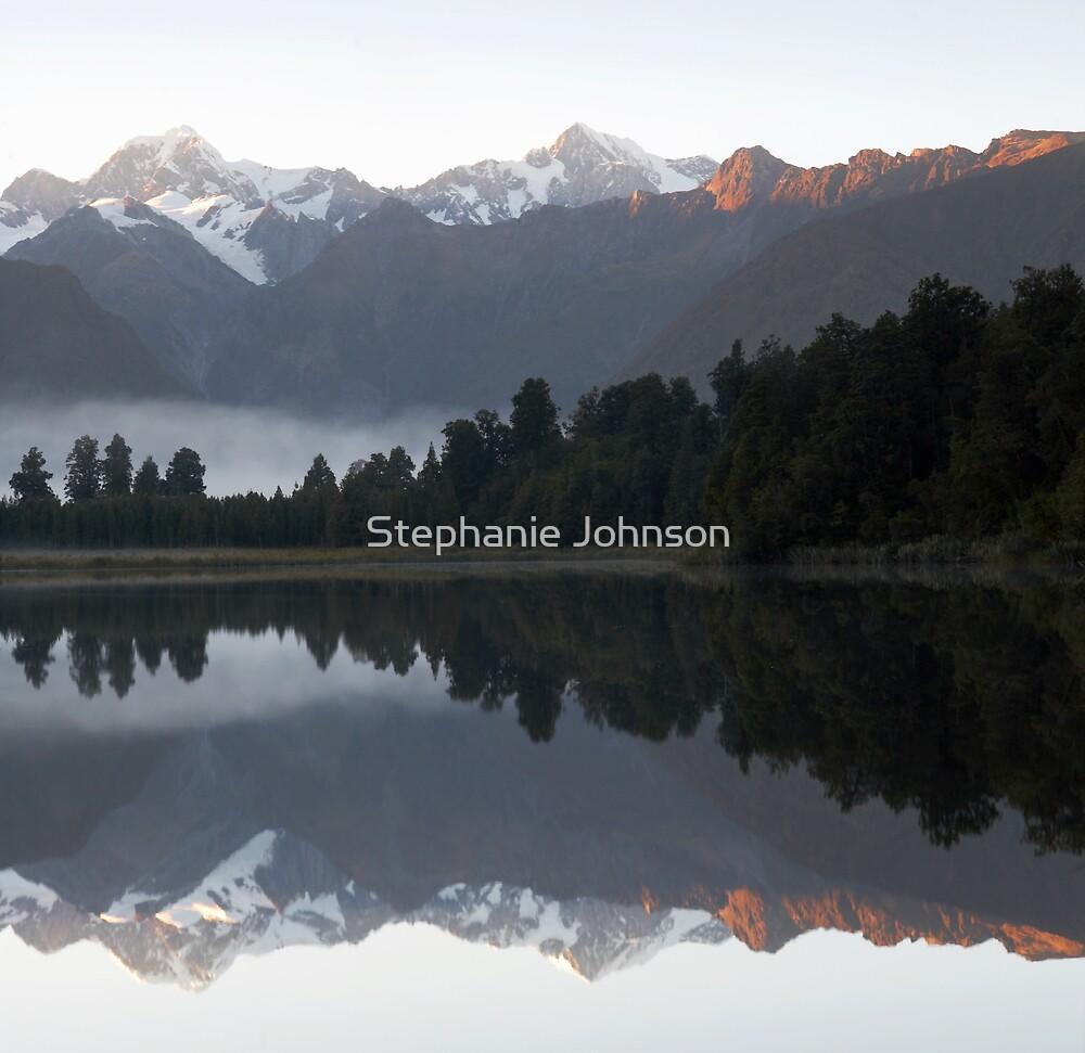 Lake Matherson reflections by Stephanie Johnson