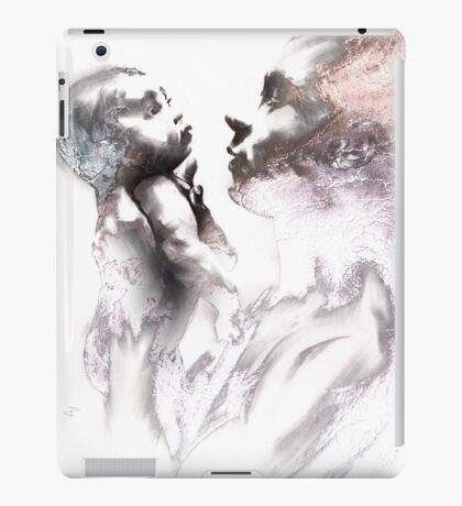 Shadowtwister, reflections conté drawing - textured iPad Case/Skin
