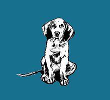 retro waimaraner pup by PenelopeJane